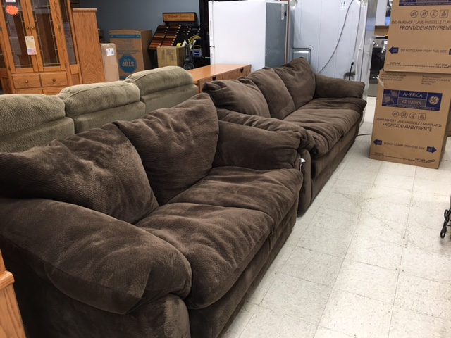 Chocolate Brown Love Seat