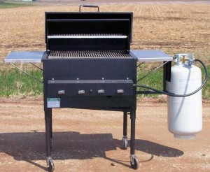 Roll Top Gas Grill (Black) Model RTG2430
